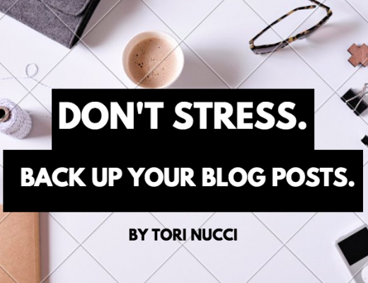 BACK UP YOUR BLOG POSTS. Don't Lose All Your Hard-Earned Work.
