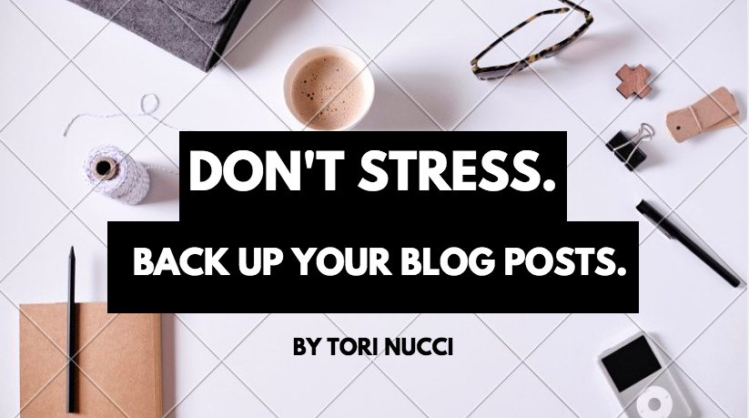 Back up your blog posts in separate locations