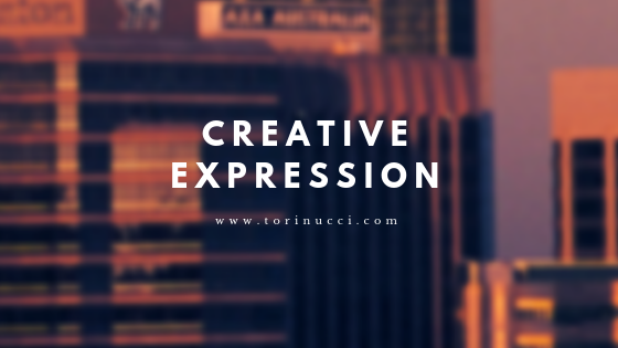 Creative Expression is so important-- especially in today's society